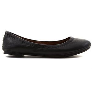 LUCKY BRAND Emmie Leather Black Ballet Flat 8.5